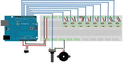 Connecting a laser module to arduino pointers